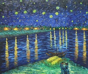 The Stary Night - Van Gogh yağlı boya tablo