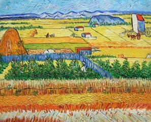 La Level-La Gray-La Arles - Van Gogh yağlı boya tablo