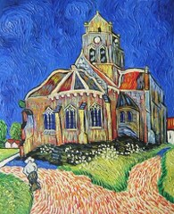 The Church At Auvers - Van Gogh yağlı boya tablo