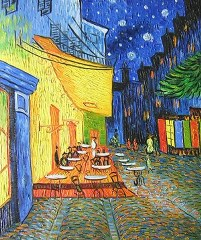 Cafe Terrace - Van Gogh yağlı boya tablo