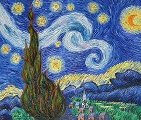 The Starry Night - Vincent Van Gogh yağlı boya tablo