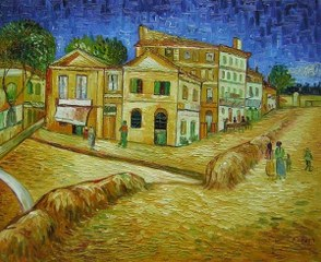 Vincent´s House at Arles - Van Gogh yağlı boya tablo