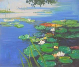 Monet - Water Lilies yağlı boya tablo