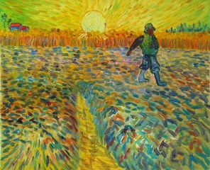 Sämann at setting sun 2 - Van Gogh yağlı boya tablo