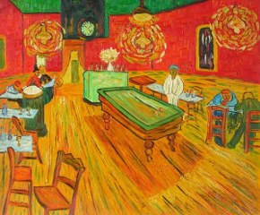 The night café - Van Gogh yağlı boya tablo