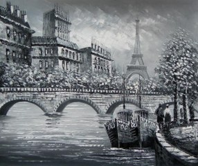 Paris in Grey yağlı boya tablo