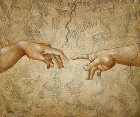 Creation of Man - Michelangelo  yağlı boya tablo