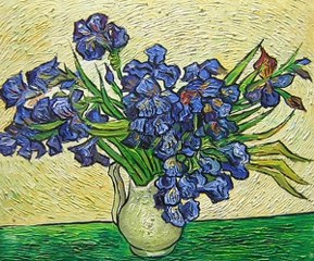 Vase With Irides - Van Gogh yağlı boya tablo