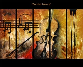 Burning Melody yağlı boya tablo